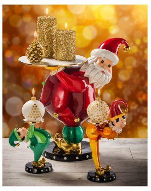 Babbo Natale in resina e ceramica 18105