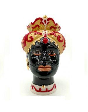 Testa di moro uomo in porcellana Capodimonte Sbordone TM04/3N
